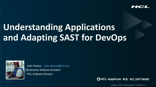 Understanding Applications and Adapting SAST for DevOps
