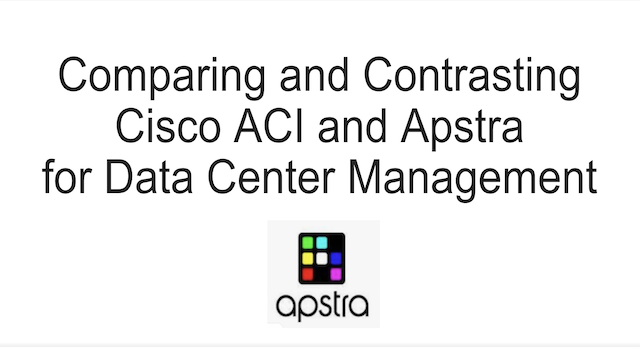 Comparing and contrasting Cisco ACI and Apstra for Data Center Management