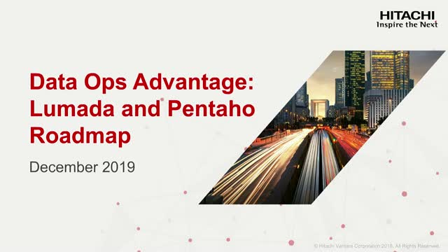 Get Your DataOps Advantage with Pentaho: Roadmap and Vision