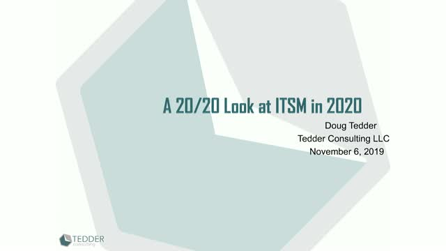 A 20/20 Look at ITSM in 2020