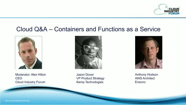 Cloud Q&A: Containers and Functions as a Service