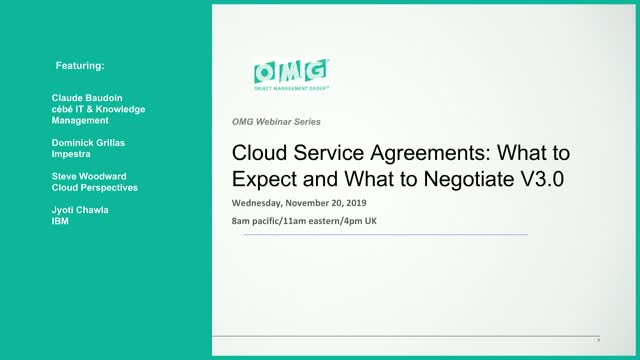 What to Watch For in Cloud Service Agreements