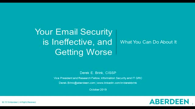 Your Email Security is Ineffective and Getting Worse