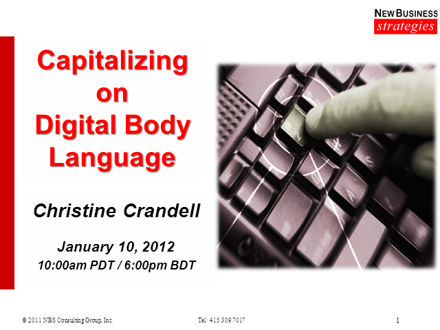 Capitalizing on Digital Body Language