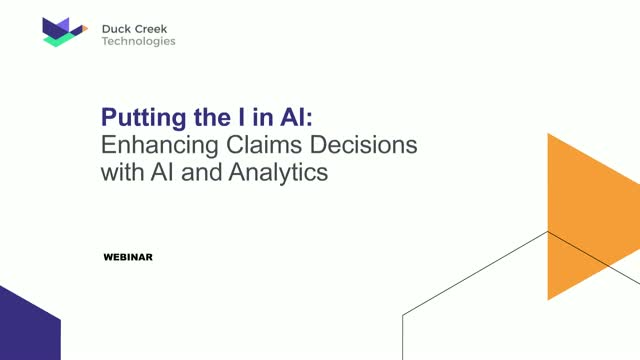 Putting the I in AI: Enhancing Claims Decisions with AI and Analytics