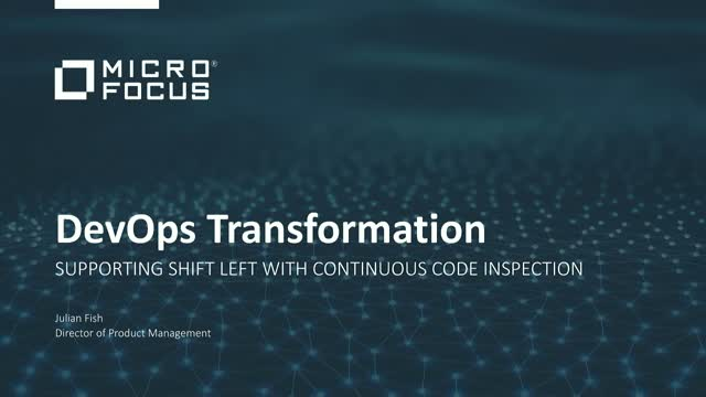 DevOps Transformation: Supporting shift left with continuous code inspection