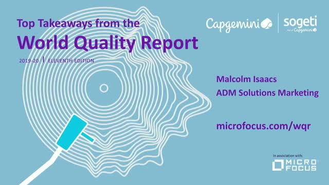 Top Takeaways from the 2019-20 World Quality Report