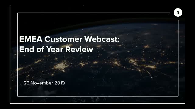 EMEA Customer: End of Year Webcast