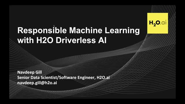 Responsible Machine Learning with H2O Driverless AI