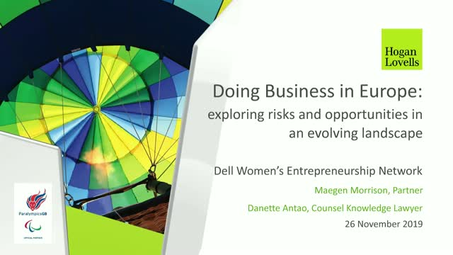 Doing Business in Europe: Risks and Opportunities in an Evolving Landscape