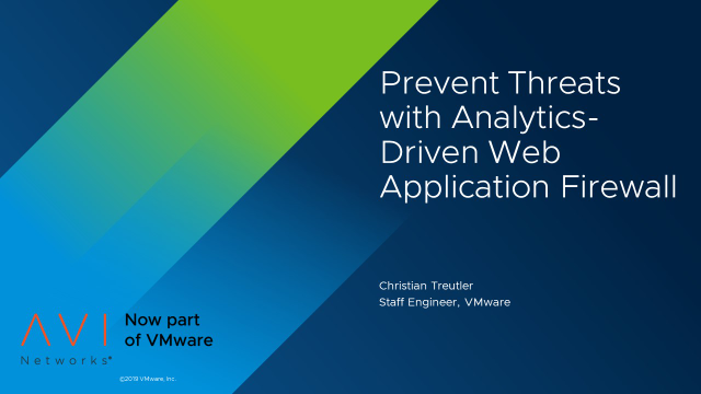 Prevent Threats with Analytics-Driven Web Application Firewall