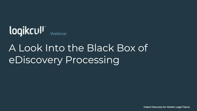 A Look Into the Black Box of eDiscovery Processing