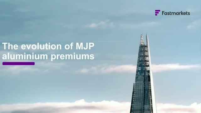 The evolution of MJP aluminium premiums
