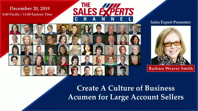 Create A Culture of Business Acumen for Large Account Sellers