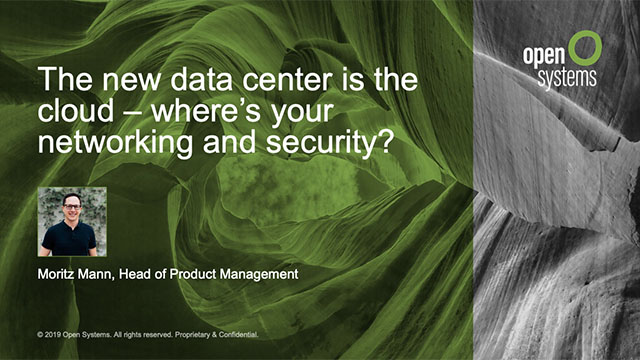 The new data center is the cloud — where's your networking and security?