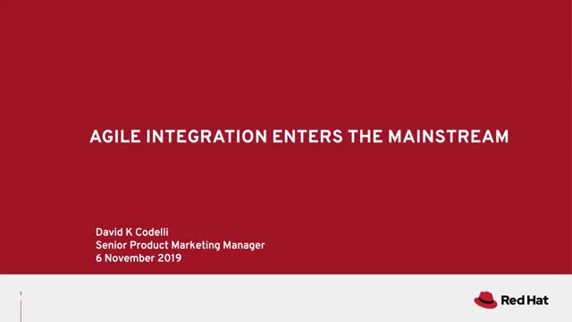 Accelerate your 2020 digital strategy with Agile Integration