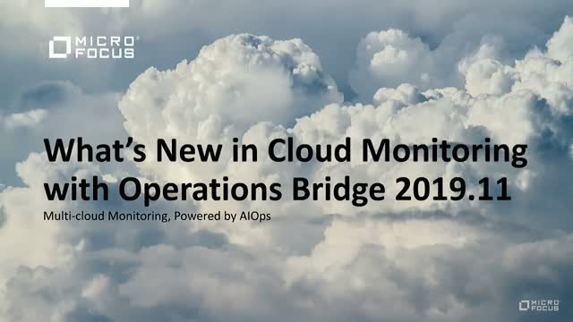 What's New in Operations Bridge Cloud Monitoring