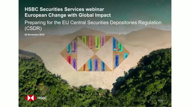 Securities Settlement – European Change with Global Impact