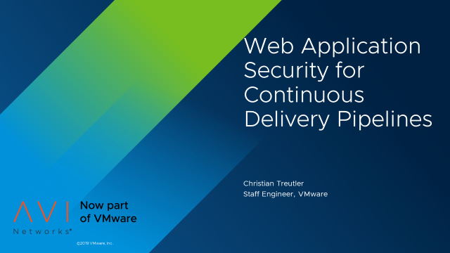 How to Implement Web Application Security for Continuous Delivery Pipelines
