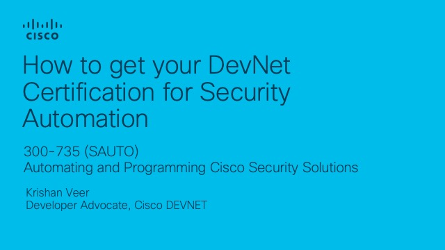 How to get your DevNet Certification for Security Automation