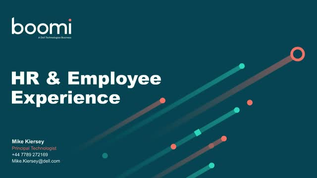 Boomi: Reinventing HR New Hire Experience & Employee Lifecycle