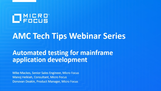 Tech Tips: Automated testing for mainframe application development