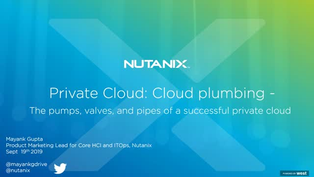 Cloud Plumbing - The pumps, valves, and pipes of a successful private cloud