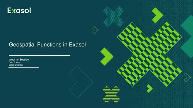 How to use geospatial data analytics in Exasol