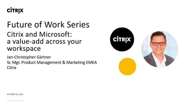 Citrix and Microsoft: A Value-Add Across Your Workspace