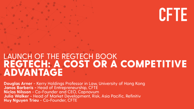 Launch of the REGTECH book: 'Regtech: A cost or a competitive advantage?'