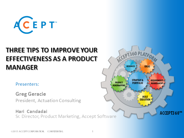 Three Tips to Improve Your Effectiveness As a Product Manager