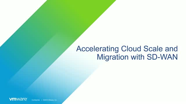 Accelerating Cloud Scale and Migration with SD-WAN