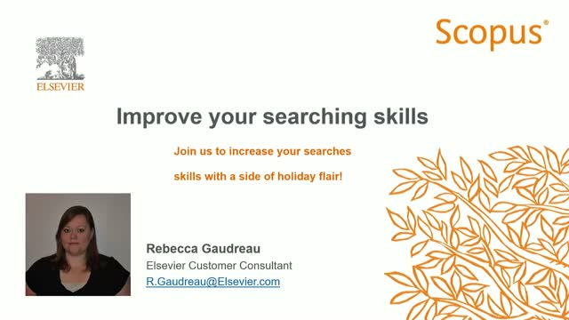 Scopus - Improve your searching skills (Holiday Edition)