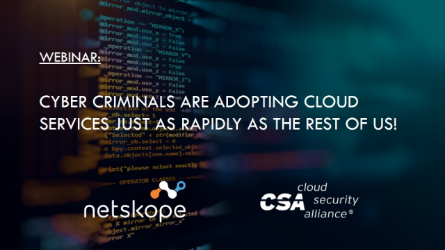 Cyber criminals are adopting cloud services just as rapidly as the rest of us!