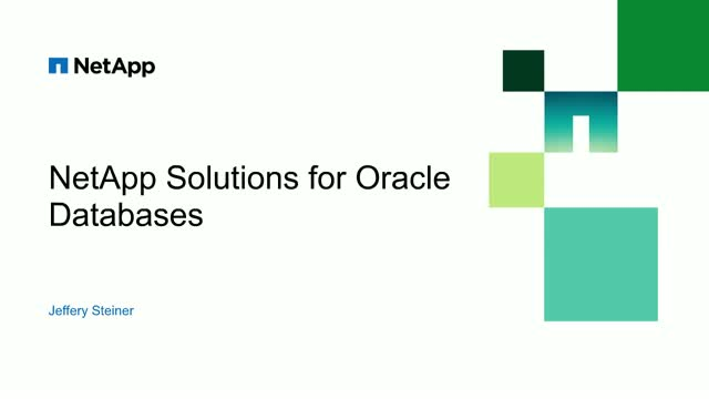 NetApp Solutions for Oracle Databases​