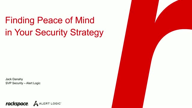 Finding Peace of Mind in Your Security Strategy