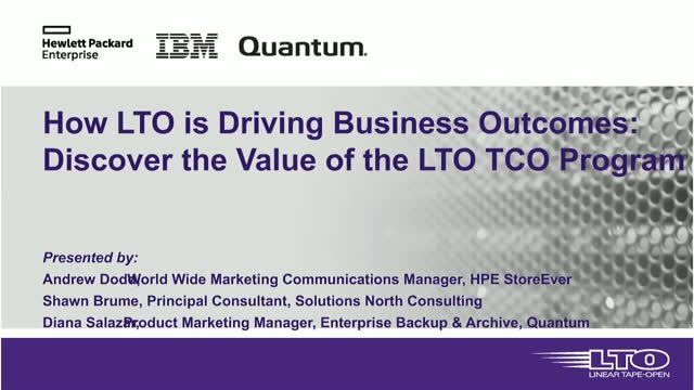 How LTO is Driving Business Outcomes: Discover the Value of the LTO TCO Program