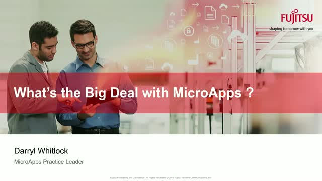 What's the Big Deal with MicroApps ?