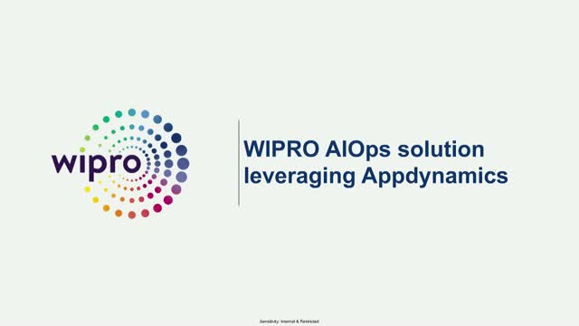 Wipro AIOps with Appdynamics
