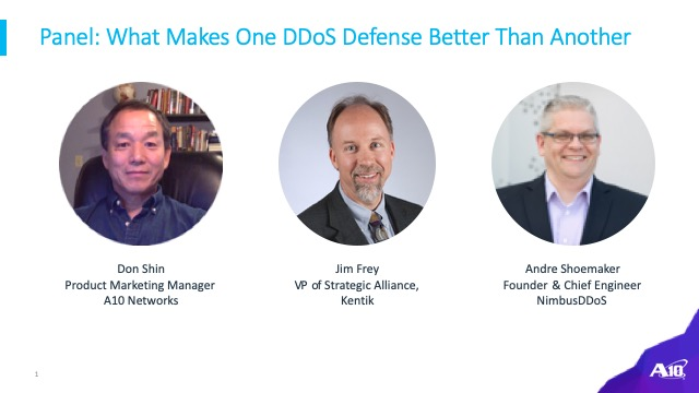 [Panel] What Makes One DDoS Defense Better Than Another