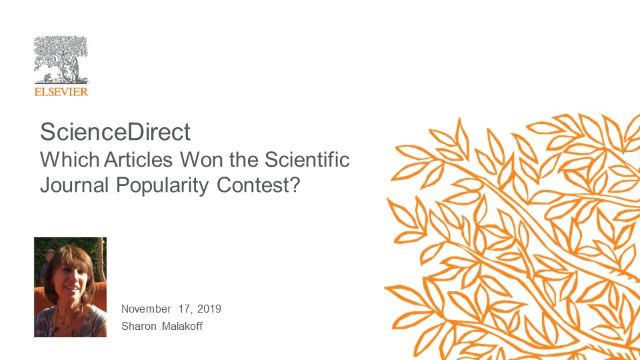 ScienceDirect - Which Articles Won the Scientific Journal Popularity Contest?