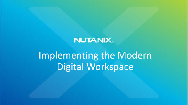 Implementing the Modern Digital Workspace