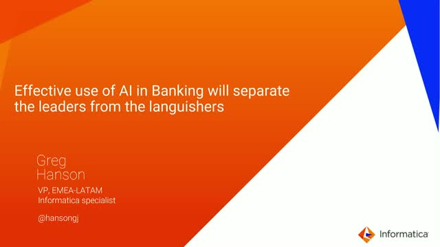 Effective use of AI in Banking will separate the leaders from the languishers