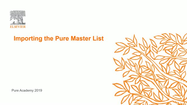 Importing the Pure Master List: Part 2