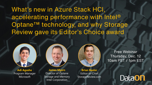 What's new in Azure Stack HCI and accelerating performance with Intel® Optane™
