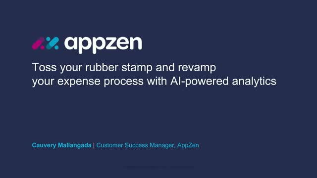 Toss your rubber stamp and revamp your expense process with AI-powered analytics