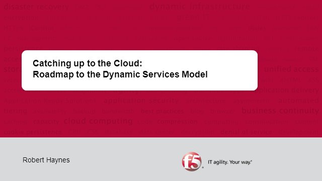 Roadmap to The Dynamic Services Model