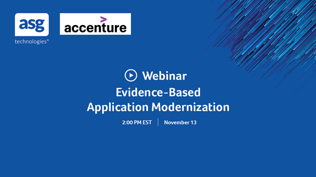 Evidence-Based Application Modernization
