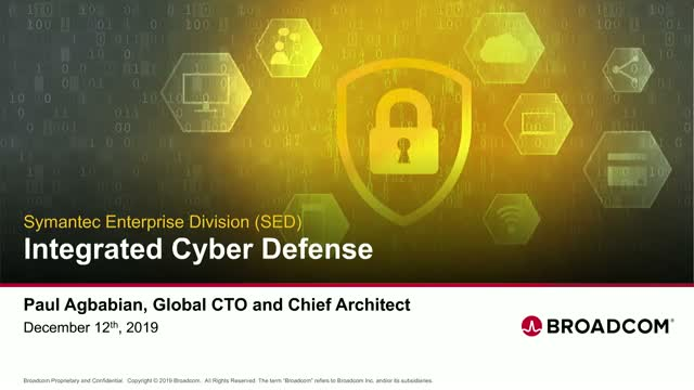Symantec Integrated Cyber Defense