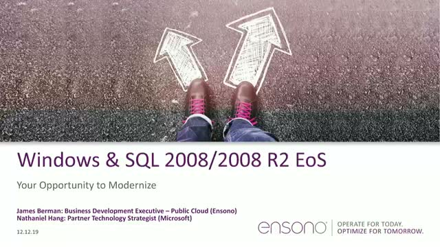 Windows & SQL 2008 Server End Of Support: Your Opportunity To Modernize